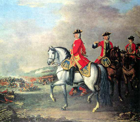 George II at the Battle of Dettingen